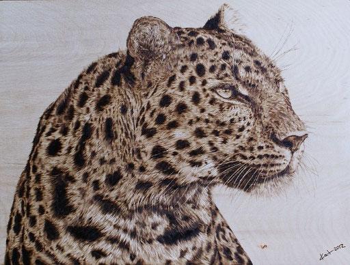 """Leopard"" Multiplex Birke, 30x40cm"