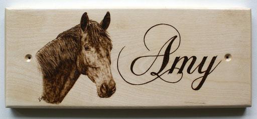 """Pferdeboxenschild """"Amy"""""""