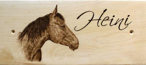 """Pferdeboxenschild """"Heini"""""""