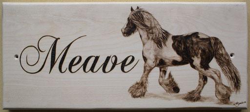 """Pferdeboxenschild """"Meave"""""""