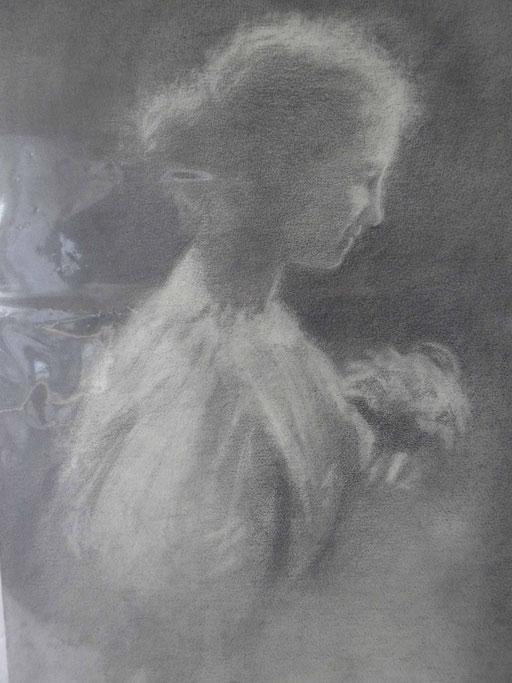 Ritratto di donna cm 66 x cm 46