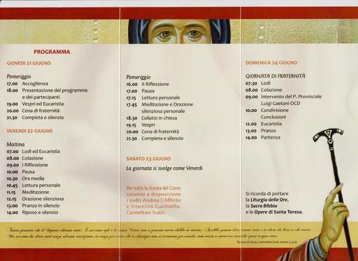 Ordine Sec. Carmelitani Scalzi Provincia Napoletana 2012 - Esercizi spirituali