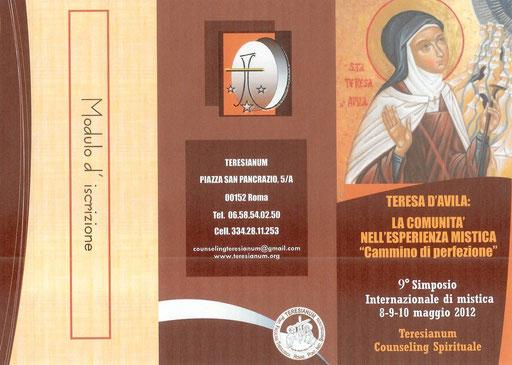 Teresianum 2012 - Roma - Simposio Internazionale depliant