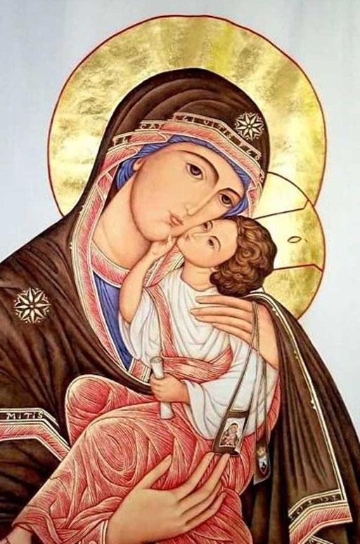 2001 - Madonna del Carmine Scapolare gigante su stoffa