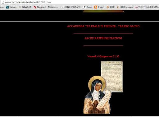 Accademia fiorentina 2009  pubblicazione non autorizzata da 30Giorni - S. Maria Maddalena de' Pazzi 2007 2