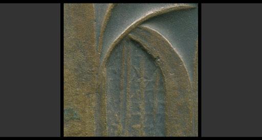 Plakette St. Peter, Köln, 1977 (Detail, Vorderseite)