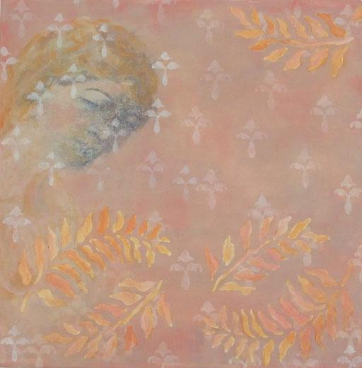 Dreamer, mixed media on canvas