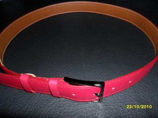 ceinture veau rose