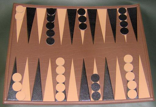 backgammon cuir
