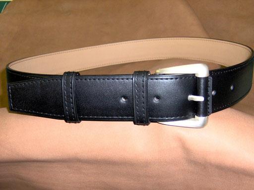 ceinture veau noir