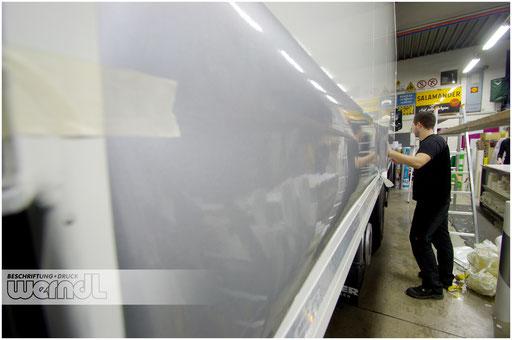 Kühlkoffer-LKW - genug Fläche für unsere Designs...