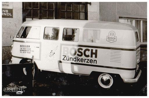 Fahrzeugbeschriftung der Firma Bessler, Neu-Ulm.