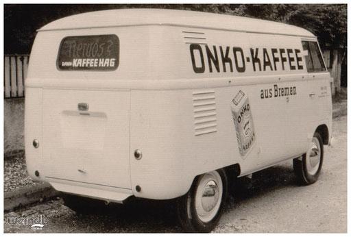Fahrzeugbeschriftung für Kaffee Onko.