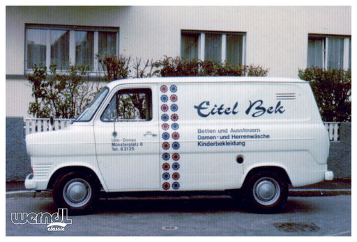 Fahrzeugbeschriftung der Firma Eitel Bek.