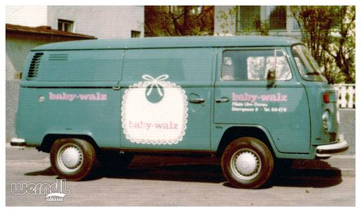 Fahrzeugbeschriftung der Firma Baby Walz.