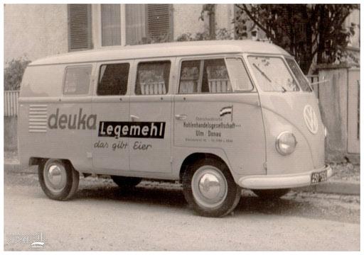 Fahrzeugbeschriftung der Oberschwäbischen Kohlenhandelsgesellschaft Ulm.
