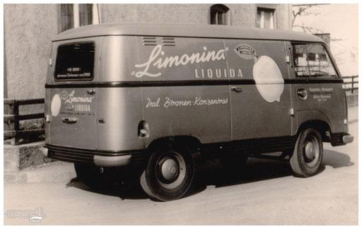 Fahrzeugbeschriftung für Italienisches Zitronenkonzentrat.