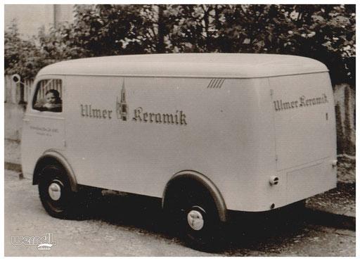 Fahrzeugbeschriftung der Ulmer Keramik