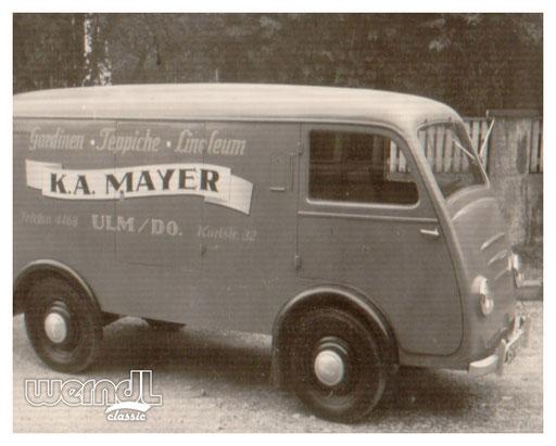 Fahrzeugbeschriftung der Firma Mayer.