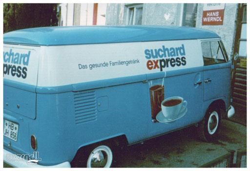 Fahrzeugbeschriftung für Suchard Express.