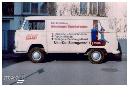 Fahrzeugbeschriftung für das Hamburger Teppich Lager, Ulm.