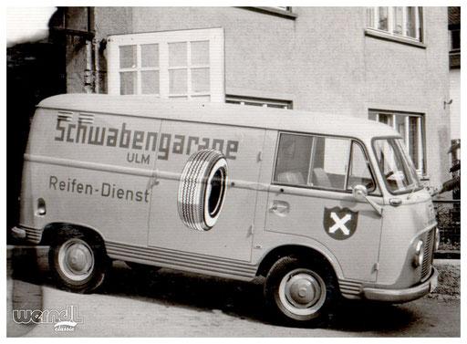 Fahrzeugbeschriftung für die Schwabengarage.