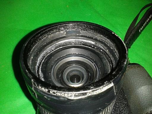 aufgeklebten Adapterring 58mm für Objektive oder Filter