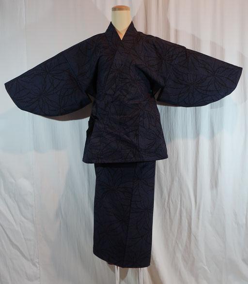 作務衣と巻きスカート