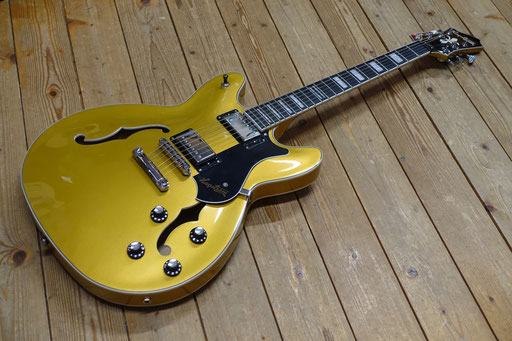 Hagstrom Viking Gold Top Justin York Artist Project