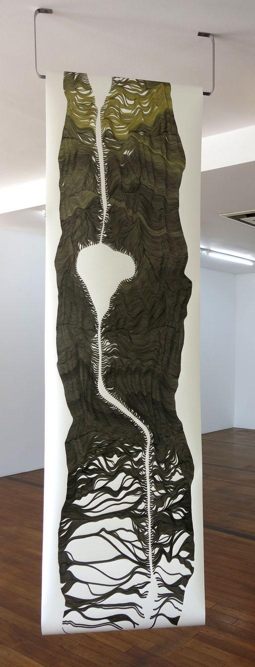 """|•|x°(Pelz)"",2019, marker on paper, 600x70cm"