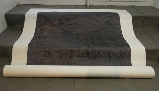 """""""Eingeengt"""", 2015, marker on paper, 150 x 150 cm"""