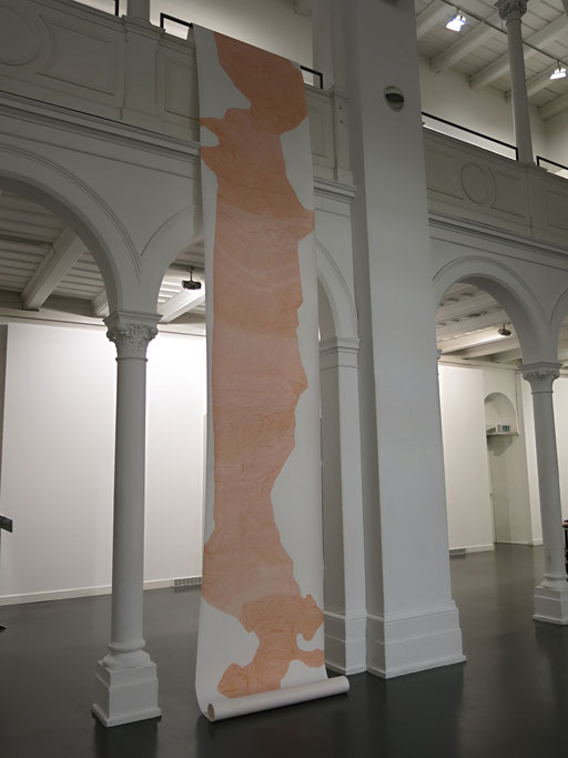 """Palmata"", 2016, marker on paper, 1000 x 100 cm"