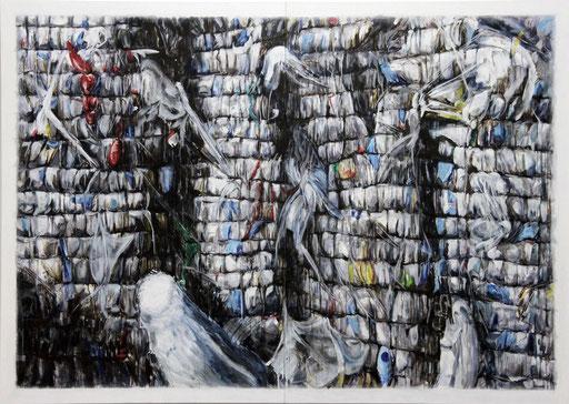 PILED 2013 Acryl auf Leinwand 135 x 190 cm