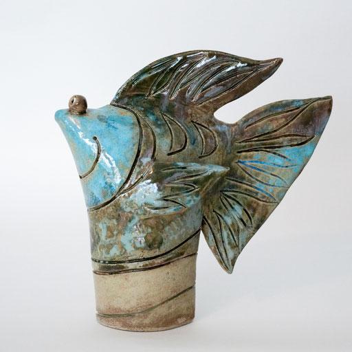 Tüten-Fisch aus Keramik