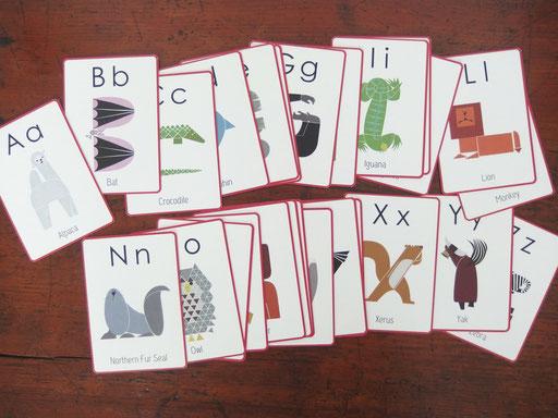 HANAE TANAZAWA original ABC Animals card set