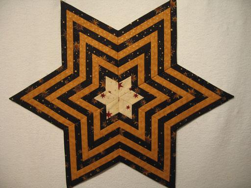 Weihnachtliche Sternendecke, von Spitze zu Spitze ca. 75 cm - Streifen - 60° Winkel - Rauten - verschiedene Größen erhältlich