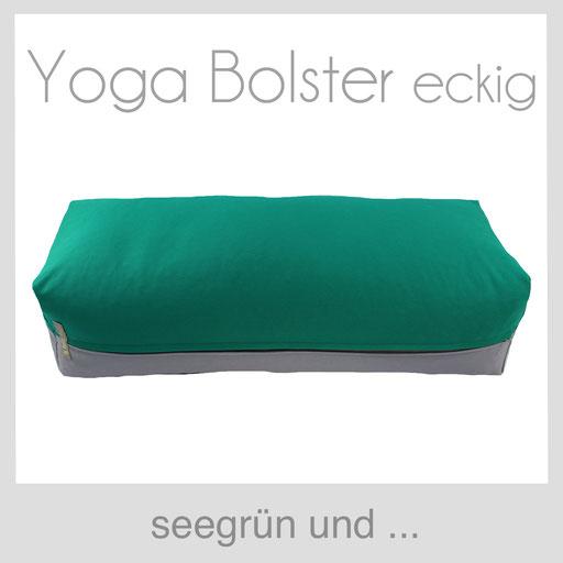 Yoga Bolster eckig Köln seegrün