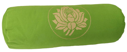 "Designer Yoga Bolster Rolle ""Lotus"" kiwi"