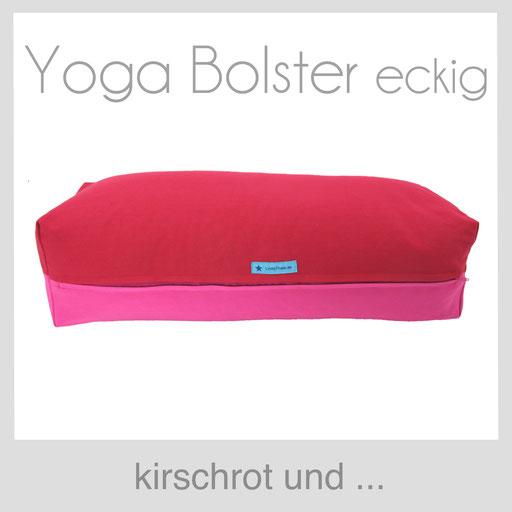 Yoga Bolster eckig Köln kirschrot
