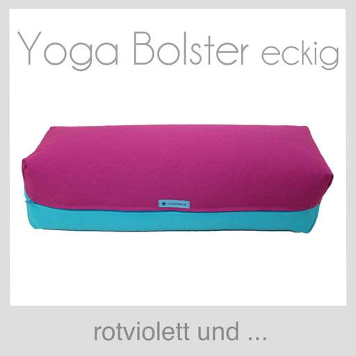 Yoga Bolster eckig Köln rotviolett