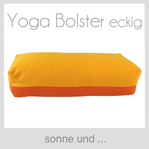 Yoga Bolster eckig Köln sonne gelb