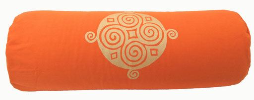 "Designer Yoga Bolster Rolle ""Four Seasons"" orange"