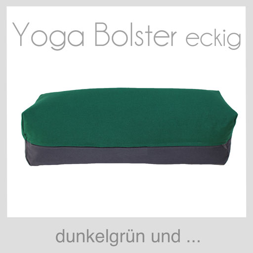 Yoga Bolster eckig Köln dunkelgrün