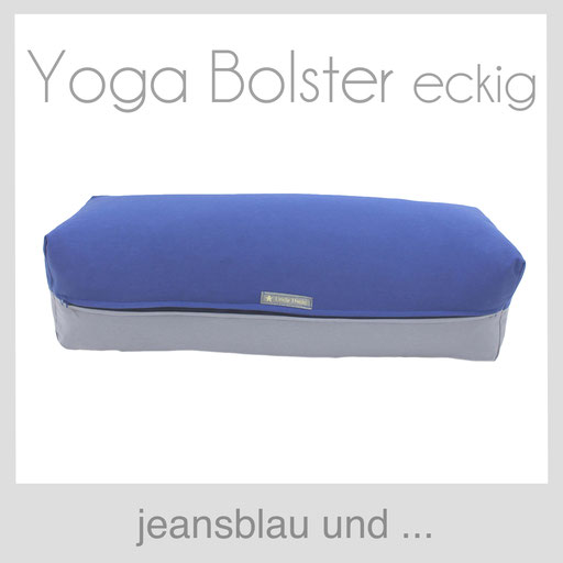 Yoga Bolster eckig Köln jeansblau