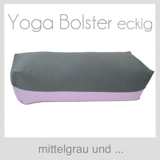 Yoga Bolster mittelgrau