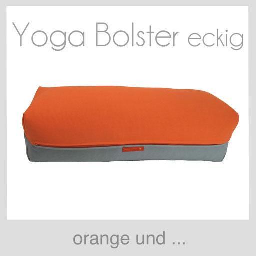 Yoga Bolster eckig Köln orange