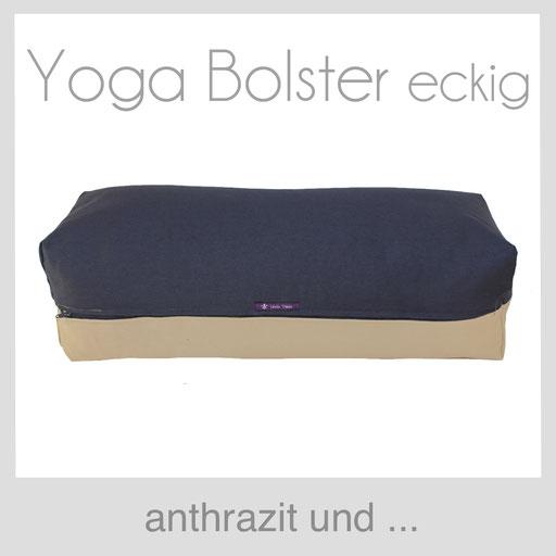 Yoga Bolster eckig Köln anthrazit