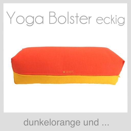 Yoga Bolster eckig Köln dunkelorange