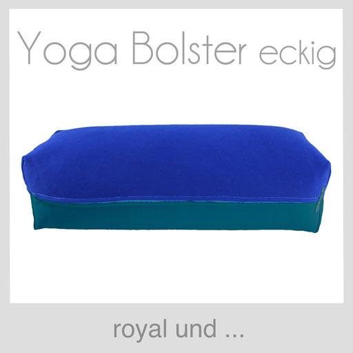 Yoga Bolster eckig Köln royal blau