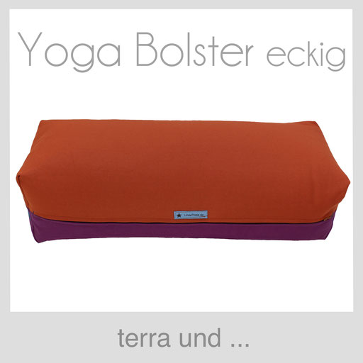 Yoga Bolster eckig Köln terracotta